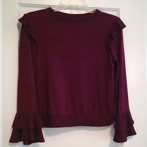 Girls Burgundy Ally B. Sweater